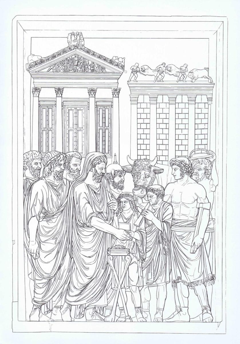 ROMA – MUSEI CAPITOLINI – ARCO DI MARCO AURELIO