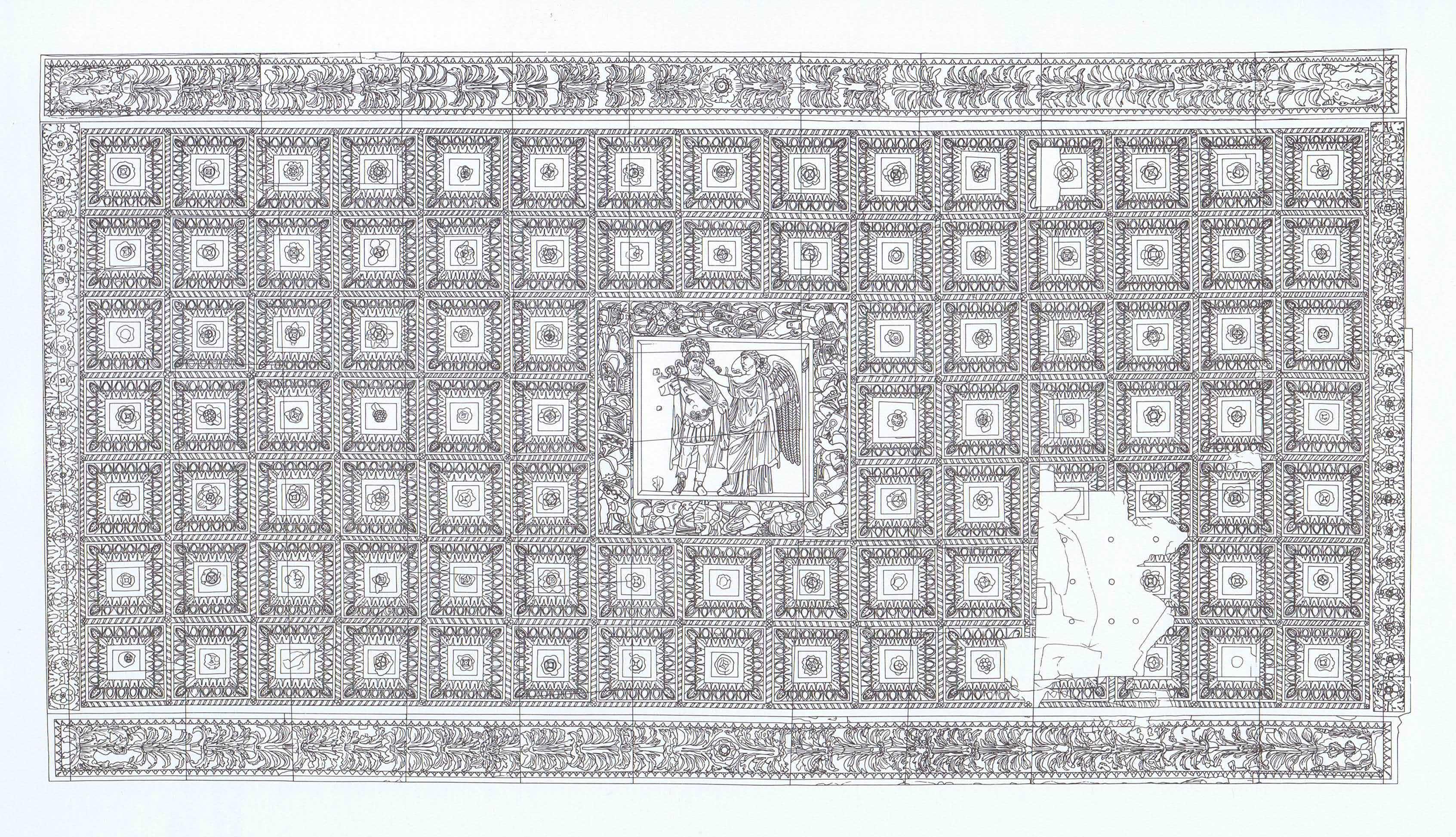 Benevento – Arco di Traiano – volta del fornice