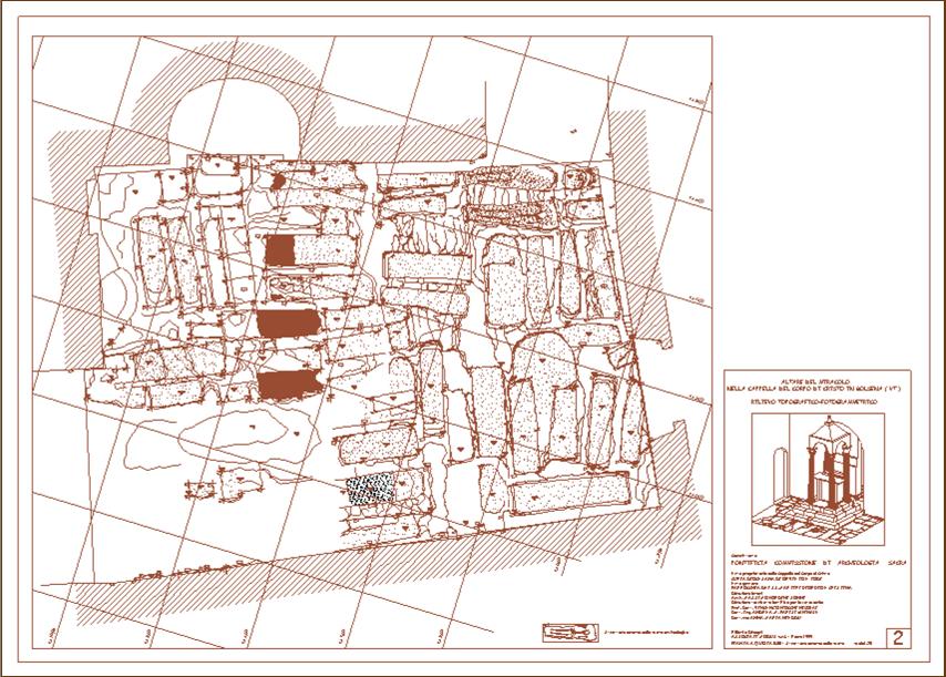 Bolsena – Altare del Miracolo – Planimetria di sintesi al termine dello scavo archeologico